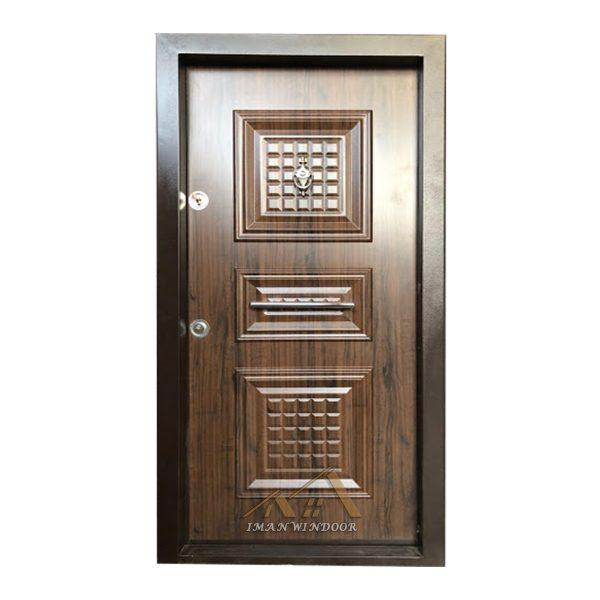 درب ضد سرقت سه قاب برجسته روکش pvc