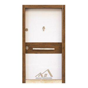 درب ضد سرقت مدرن سفید ساده